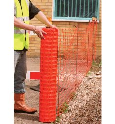 TEMP SAFETY FENCE 5M