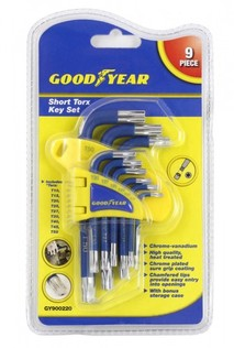 TORX KEY SET 9PC SHORT