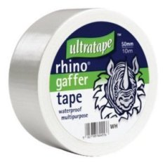 GAFFER TAPE WHITE 50MM X 50M