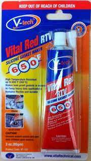 VITAL RED RTV SILICONE GASKET MAKER