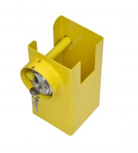 COUPLING LOCK SYSTEM 110X110MM WITH 70MM DISC STYLE PADLOCK