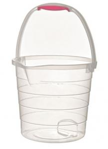 CLEAR STEPPED BUCKET 10 LITRE