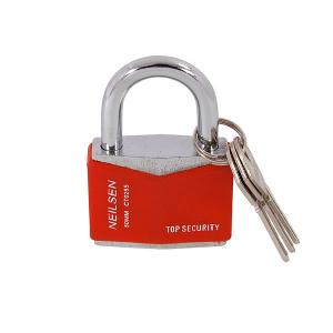 50MM RHOMBIC CHROME PLATED IRON PADLOCK