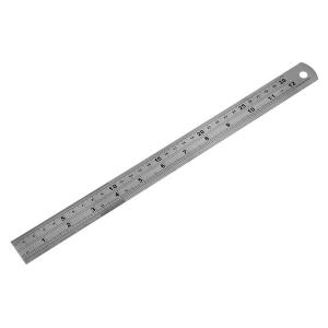 STAINLESS STEEL RULER 12INS