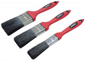 NO LOSS PAINT BRUSH SET 3PCS SOFT HANDLE