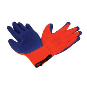 LATEX COATED WORKING GLOVES WITH FLEECE LINING 9