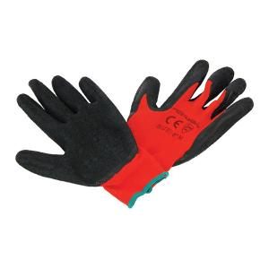 LATEX COATED WORKING GLOVES 9 INCH L SOLD IN MIN 12 PAIR