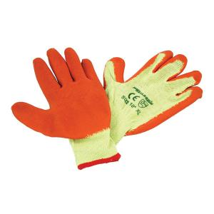 CRINKLE LATEX COATED WORK GLOVE SIZE: 9   L SOLD IN MIN 12 PAIR