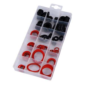 141-PIECE GASKET ASSORTMENT: RUBBER, FIBRE AND KLINGERITH