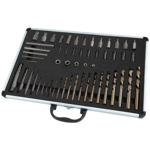 55PC MASTER SCREW EXTRACTOR DRILL AND GUIDE SET
