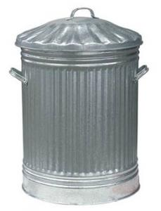 DUSTBIN WITH LID GALVANISED 18 X 24