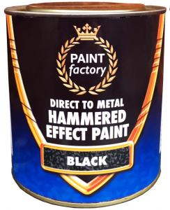 BLACK HAMMERED EFFECT PAINT 750ML