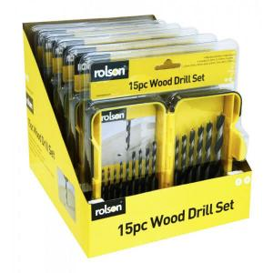 15PC WOOD DRILL SET