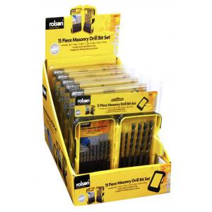 15PC MASONRY DRILL SET