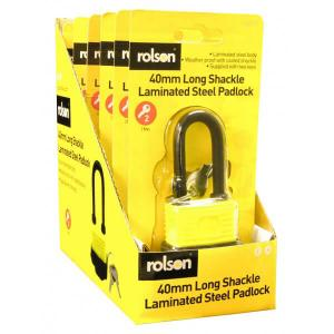 40MM LONG SHACKLE WEATHERPROOF PADLOCK