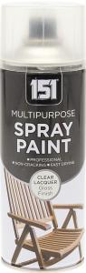 151 MULTIPURPOSE SPRAY PAINT CLEAR LACQUER 400ML
