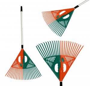 2 IN 1 TELESCOPIC LEAF RAKE