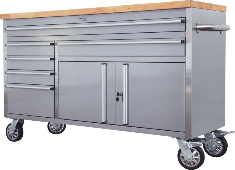 60 Inch Stainless Steel Rolling Workbench Automotive Tools Diesel Generators