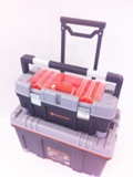 2 IN 1 ROLLING TOOL BOX SET