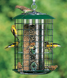 CAGED PEANUT FEEDER