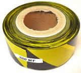 BARRIER TAPE BLACK AND YELLOW 500MTR