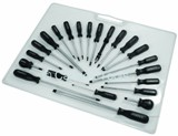 SCREWDRIVER SET - 22 PIECE  BLACK HANDLE