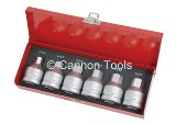 HEX BIT SET -6PC 3/4IN. DR/CRM
