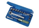 17PCS 1/4IN. DR. SOCKET SET
