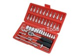 SOCKET SET 46PCS 1/4 DRIVE