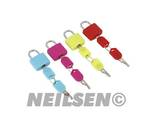 HI-VIS BRASS PADLOCKS SET 4PCS