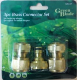 BRASS CONNECTOR SET 3PC