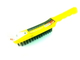 4 ROW WIRE BRUSH WITH SCRAPER